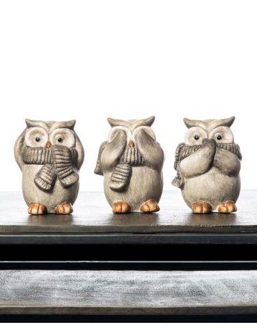 Three Owl (Hear/Speak/See)
