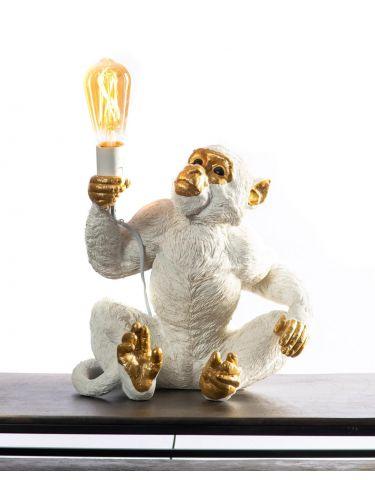 White Monkey Lamp